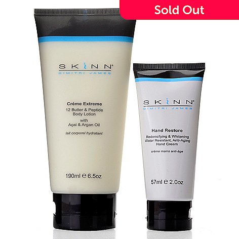 307-425 - Skinn Cosmetics Creme Extreme Body Lotion & Hand Restore Hand Cream Duo