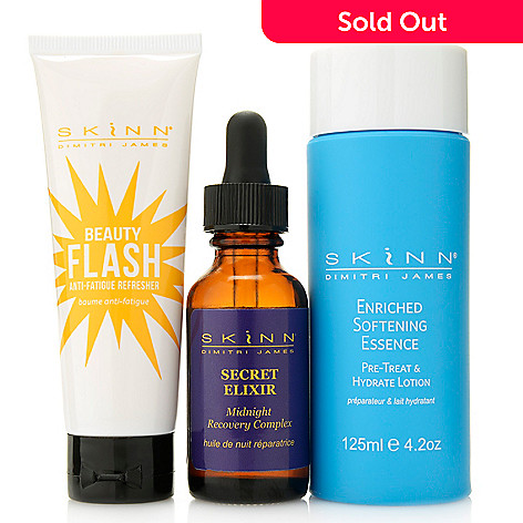 307-432 - Skinn Cosmetics Enriched Softening Essence, Beauty Flash & Recovery Complex Trio