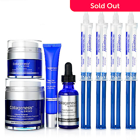 307-468 - Skinn Cosmetics Eight-Piece Collagenesis Deep Wrinkle Protocol Skincare System