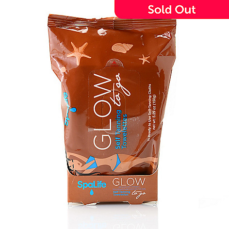 307-695 - SpaLife 30-Pack Glow to Go Self Tanning Towelettes 5.29 oz