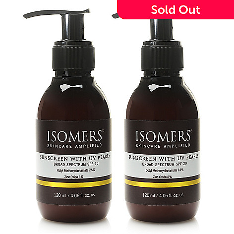 307-762 - ISOMERS Skincare Sunscreen w/ UV Pearls Broad Spectrum SPF 20 Duo 4.06 oz Each