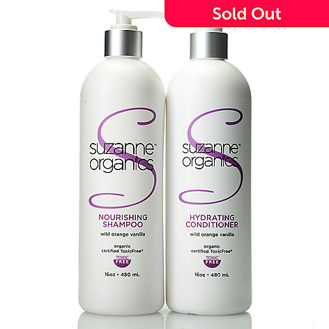307-850 - Suzanne Somers Organics Salon Size Shampoo & Conditioner Duo