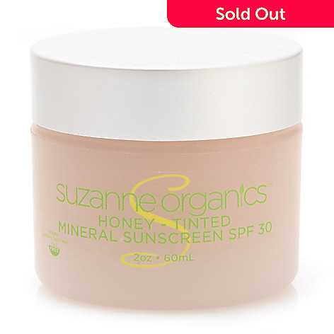 307-949 - Suzanne Somers Organics Honey - Tinted SPF 30 Mineral Sunscreen 2 oz
