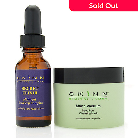307-978 - Skinn Cosmetics Deep Pore Cleansing Mask & Secret Elixir Power Duo