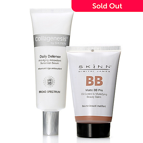 307-981 - Skinn Cosmetics Daily Defense Sunscreen SPF 30 & Matte BB Pro Skin Protection Duo