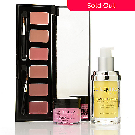 308-263 - Skinn Cosmetics Lip Stem Rejen, Insta-Fill for Lips & Hollywood Lip Palette Trio