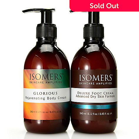 308-398 - ISOMERS® Foot Cream & Glorious Rejuvenating Body Cream Duo