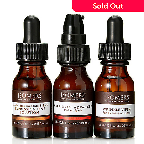 308-401 - ISOMERS Skincare ''No More Wrinkles'' Smooth & Conceal Eye Care Trio 0.51 oz Each