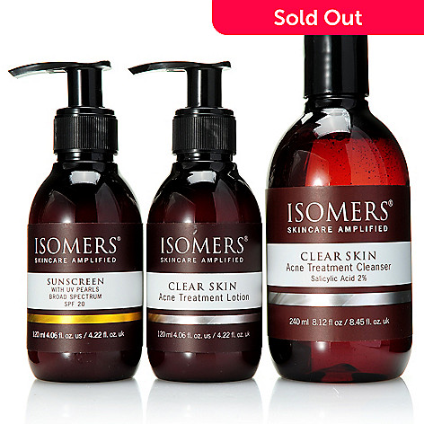 308-402 -  ISOMERS Skincare ''Clear & Clean Skin'' Acne Treatment & Sunscreen Trio
