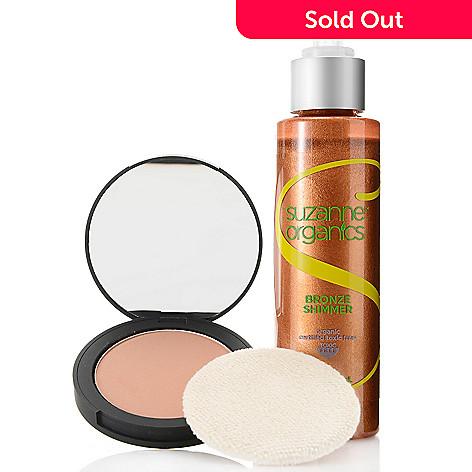 308-518 - Suzanne Somers Organics Shimmering Bronzer & Bronzing Powder Duo