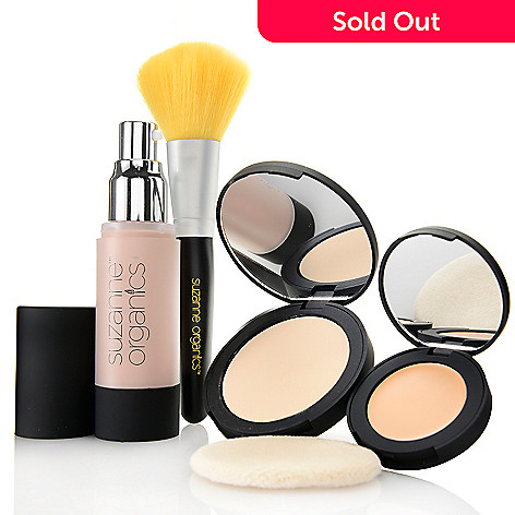 308-521 - Suzanne Somers Organics Four-Piece Cosmetic Basics Collection