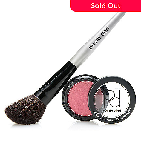 308-745 - Paula Dorf Cosmetics Powder Cheek Color w/ Application Brush