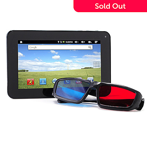 400-706 - Ematic eGlide Prism 7'' 8GB Android 4.0 3D Tablet w/ Glasses, Earphones, USB Cable & Sleeve