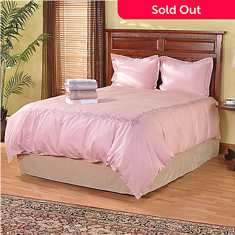 401-034 - Grand Suites® 600TC Embroidered Egyptian Cotton Three-Piece Duvet Set