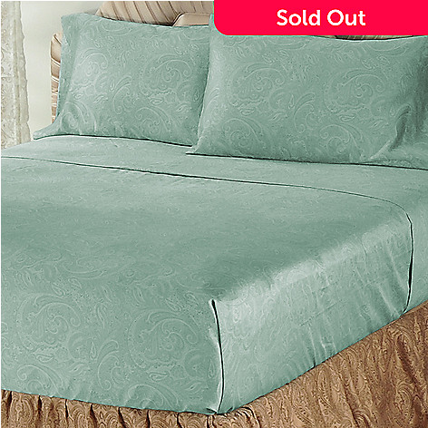 401-435 - North Shore Linens™ 600TC Egyptian Cotton Sateen Four-Piece Sheet Set