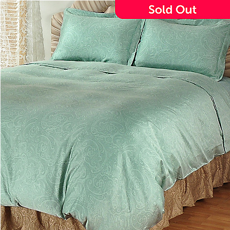 401-439 - North Shore Linens™ 600TC Egyptian Cotton Sateen Three-Piece Duvet Set