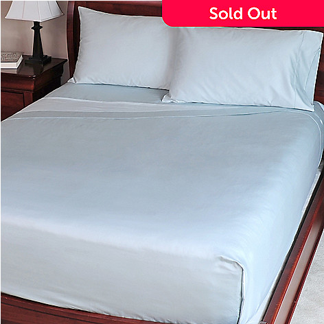 401-560 - North Shore Living™ 1000TC Egyptian Cotton Solid Sateen Four-Piece Sheet Set