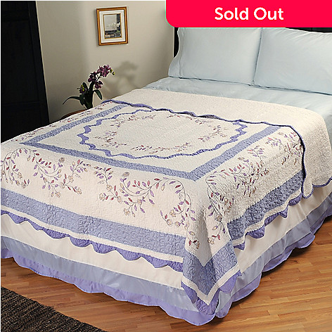 401-585 - North Shore[ ''Misty Vine'' Limited Edition Embroidered Full/Queen Quilt