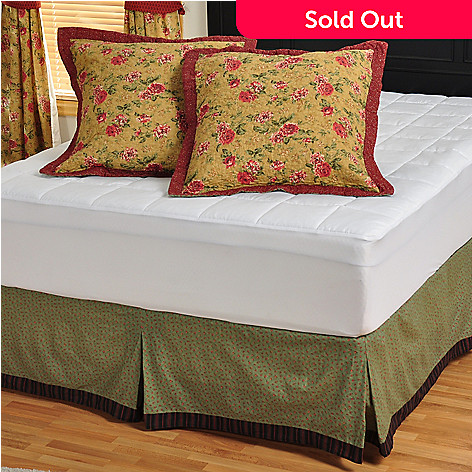 401-662 - North Shore[ ''Savoy Stream'' Star Pattern Cotton Bedskirt & Euro Sham Pair