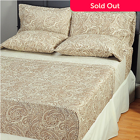 401-681 - Cozelle™ Microfiber Six-Piece Paisley Printed Sheet Set