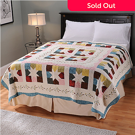 401-748 - North Shore[ ''Star Patch'' Limited Edition Embroidered King Quilt