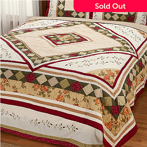 401-797 - North Shore[ ''Woodbury'' Limited Edition Diamond Motif King Quilt