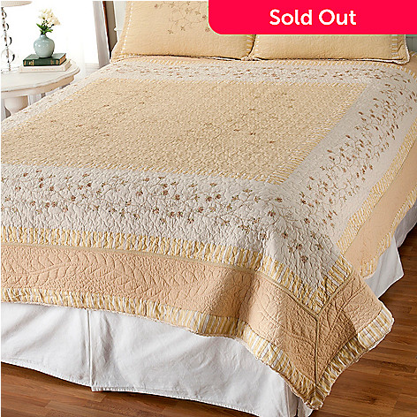 401-814 - North Shore[ ''Sundance'' Limited Edition Floral Embroidered King Quilt