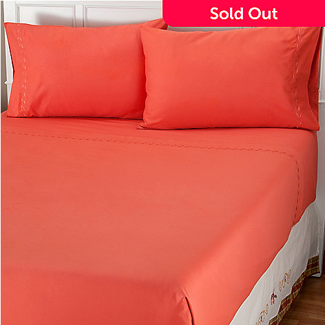 401-836 - North Shore Linens™ ''Double Leaf'' 400TC Egyptian Cotton Four-Piece Sheet Set