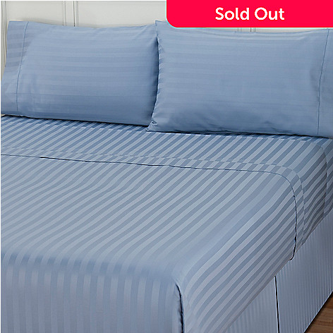 401-847 - Macy's Charter Club® 500TC Pima Cotton Stripe Four-Piece Sheet Set