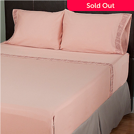 401-912 - North Shore Living™ 300TC Cotton Four-Piece Embroidered Sheet Set