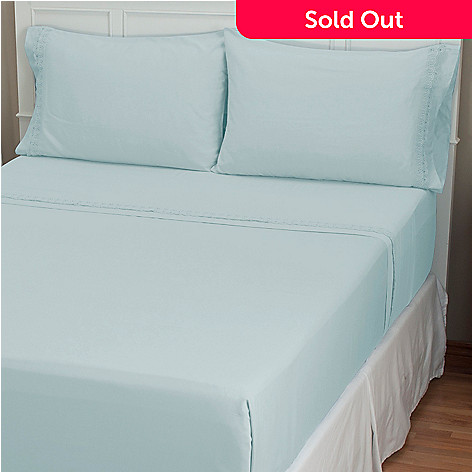 401-913 - North Shore Living™ ''Florence'' 300TC Cotton Lace Four-Piece Sheet Set