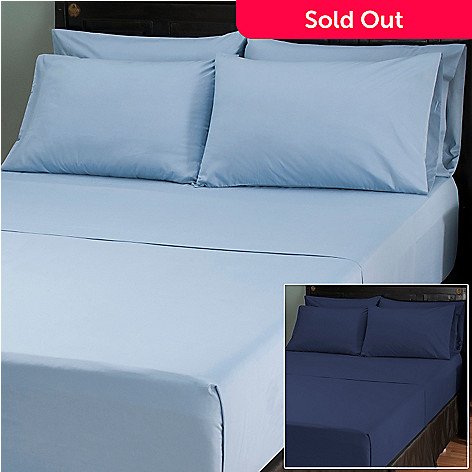 401-924 - Cozelle™ Microfiber Solid Six-Piece Sheet Set - Set of Two