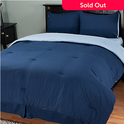 401-925 - Cozelle™ Microfiber Four-Piece Reversible Comforter Set