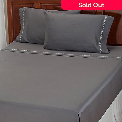 401-935 - North Shore Linens™ ''Double Diamond'' 300TC Cotton Sateen Four-Piece Sheet Set
