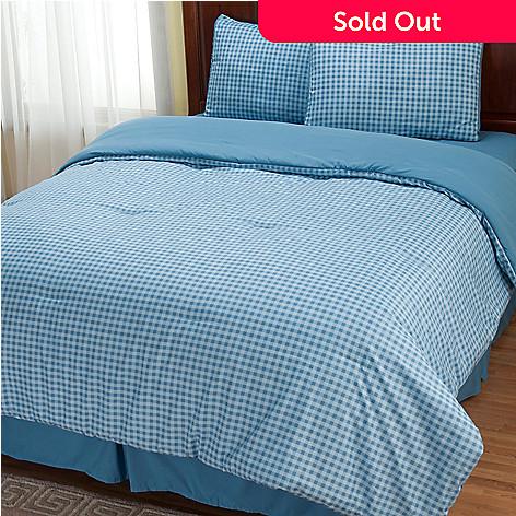 401-960 - Cozelle® ''Gingham'' Microfiber Four-Piece Comforter Set