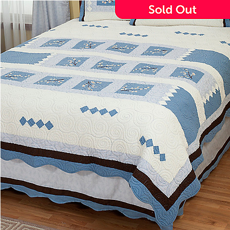 402-012 - North Shore™ Collectible Quilts ''Blossoms'' Limited Edition Quilt - Twin Size