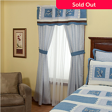 402-016 - North Shore™ Collectible Quilts ''Blossoms'' Five-Piece Window Set