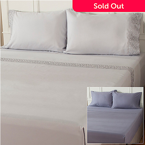 402-032 - Cozelle™ Microfiber Lace  Four-Piece Sheet Set - Set of Two