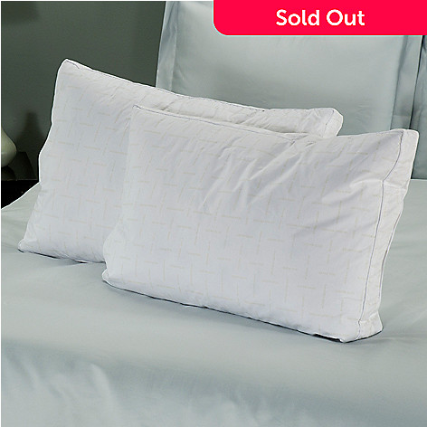402-036 - North Shore Linens™ Premium Touch™ White Duck Feather Pillow Pair - Medium / Firm
