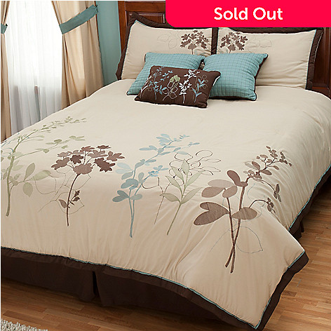 402-099 - North Shore Linens™ ''Silhouette'' Seven-Piece Comforter Set