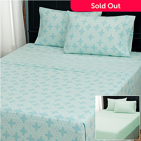 402-128 - Cozelle® ''Cambria'' Microfiber Set of Two Four-Piece Sheet Sets