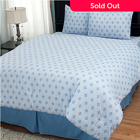 402-132 - Cozelle® ''Fleur-de-Lis'' Microfiber Four-Piece Comforter Set