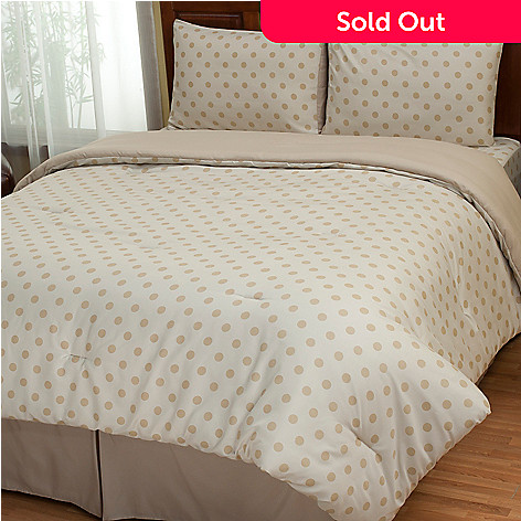 402-135 - Cozelle® ''Dot'' Microfiber Four-Piece Comforter Set