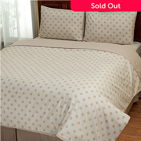 402-136 - Cozelle® ''Dot'' Microfiber Three-Piece Duvet Set