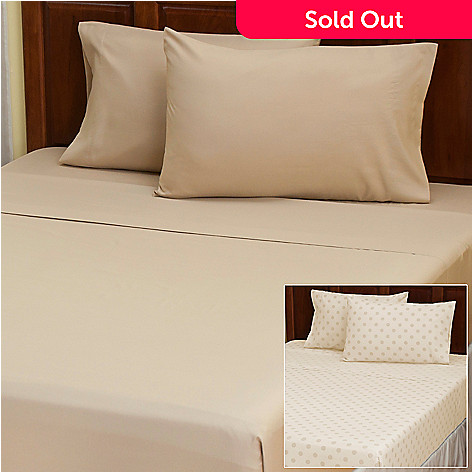 402-137 - Cozelle® ''Dot'' Microfiber Set of Two Four-Piece Sheet Sets