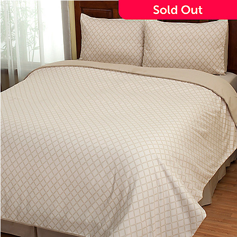 402-145 - Cozelle® ''Laura'' Microfiber Three-Piece Duvet Set