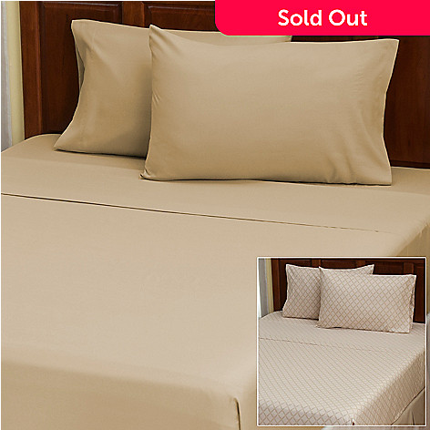 402-146 - Cozelle® ''Laura'' Microfiber Set of Two Four-Piece Sheet Sets