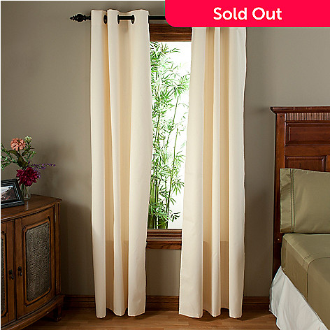 402-150 - North Shore Linens™ Blackout Curtain Panels w/ Grommets - Set of Two