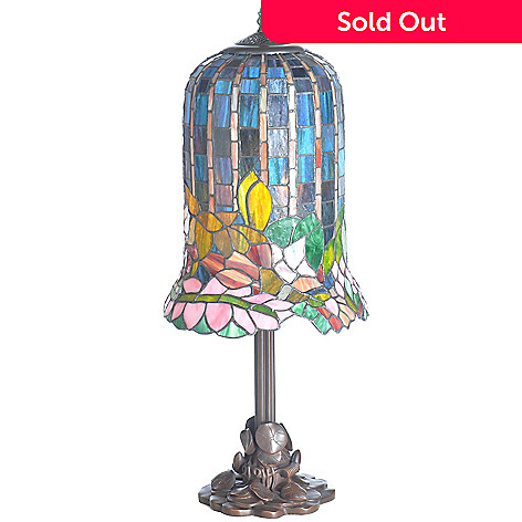 402-630 - Tiffany-Style Hanging Lily Stained Glass Table Lamp