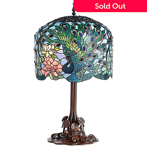402-833 - Tiffany-Style 34.25'' Fantastic Feodora's Stained Glass Table Lamp